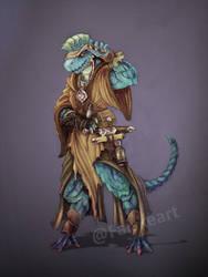 Comission- Dragonborn Monk by NatteRavnen