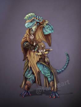 Comission- Dragonborn Monk