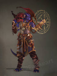 Dragonborn Warlock- commission by NatteRavnen