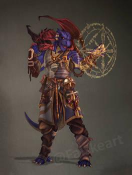 Dragonborn Warlock- commission