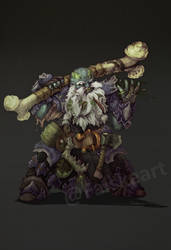 Duergar Druid of spores- commission by NatteRavnen