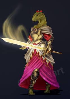 Green Dragonborn Paladin
