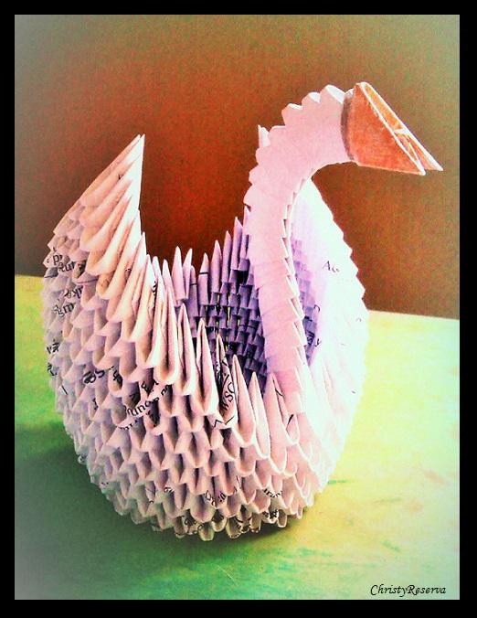 3d Origami Swan 3 By Christyreserva On Deviantart