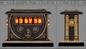 Steampunk Clock Concept