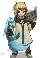 FFXIV Lalafell Arcanist by bchart