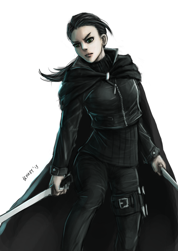 R: The Girl in Black by bchart