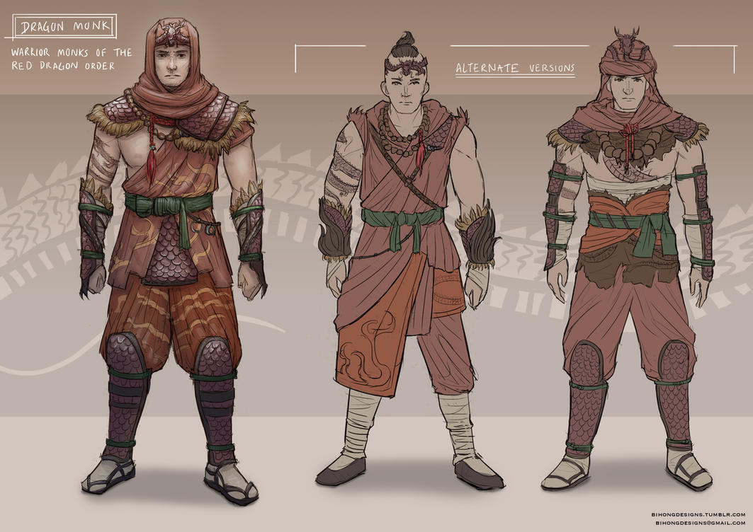 Dragon Monks by bchart