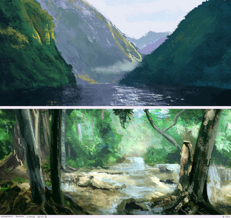 Environment Painting Studies by bchart