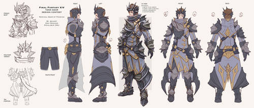 FFXIV Tank Gear Design Contest Entry by bchart