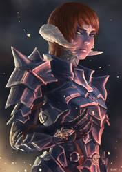 C: FFXIV Au Ra Dark Knight by bchart