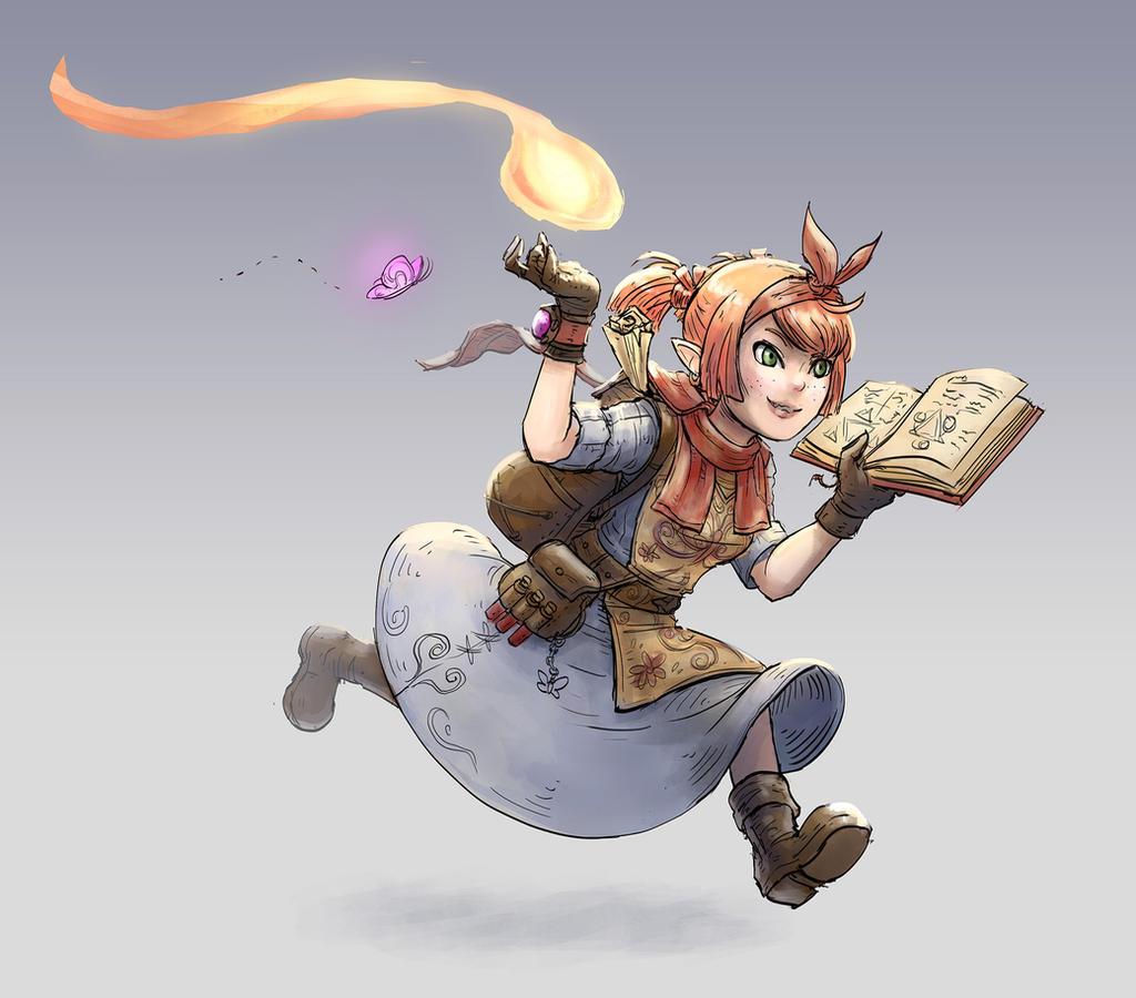 Omni Nomlan, Gnome Wizard by bchart