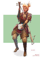 Ka-en, Far Traveler Fire Genasi Bard