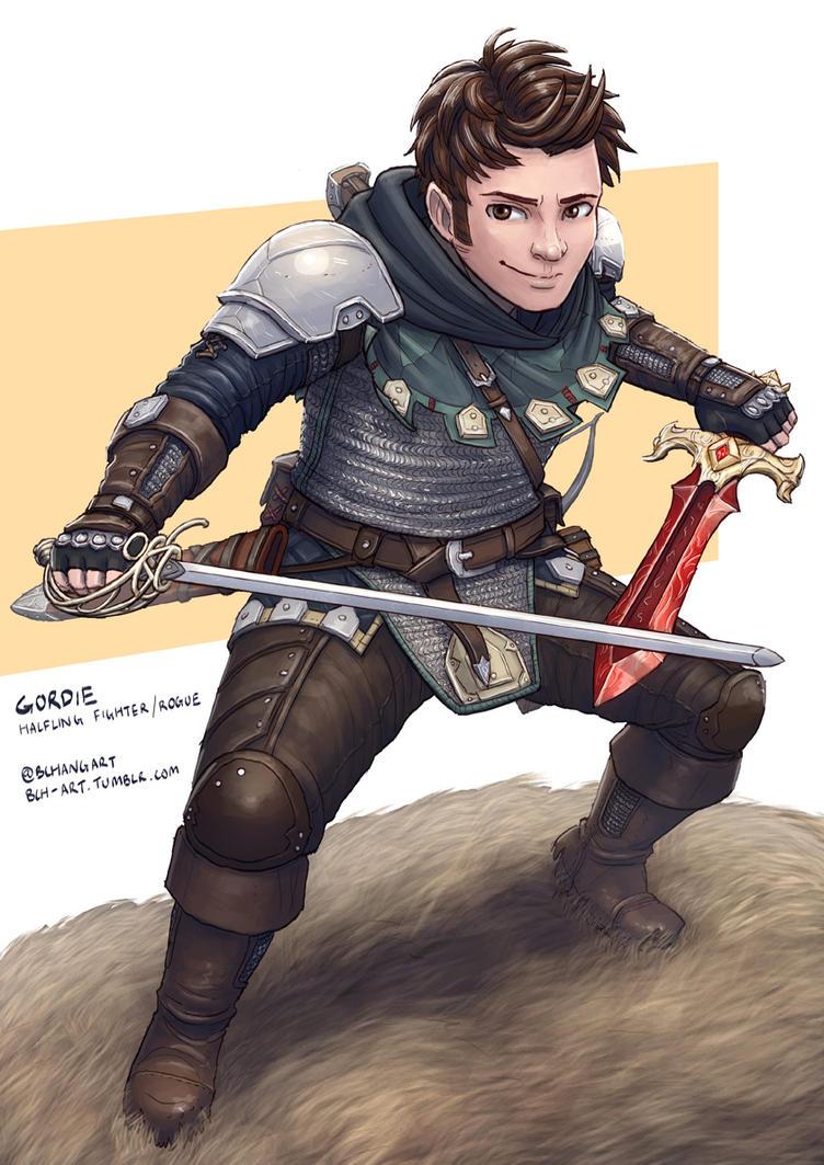 C: Gordie, Halfling Fighter Rogue by bchart