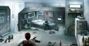 Cyberpunk Apartment by bchart