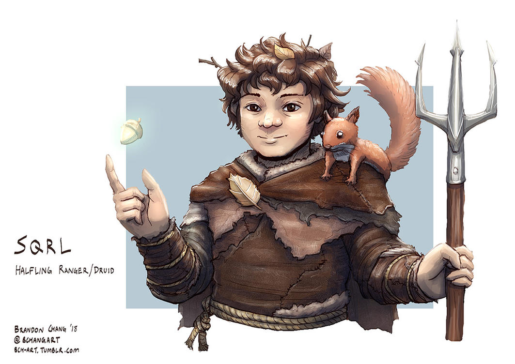 C: Sqrl, Halfling Ranger/Druid by bchart