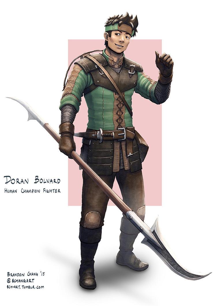 C: Doran Bolvard, Human Champion Fighter by bchart