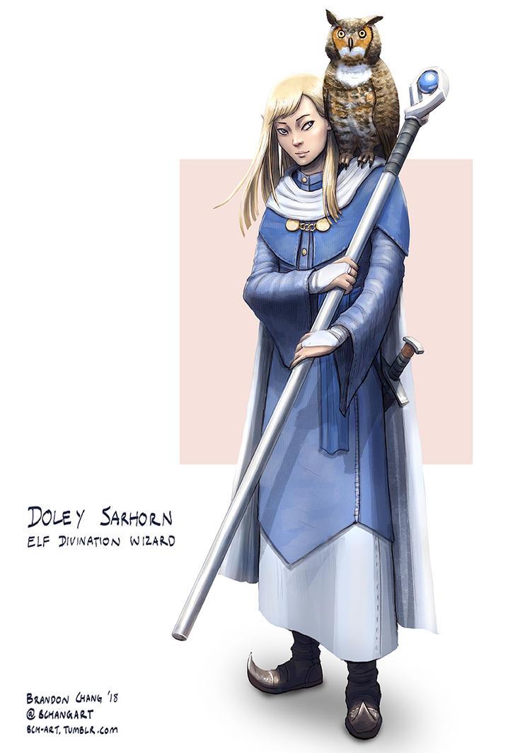 C: Doley Sarhorn, Elf Divination Wizard by bchart