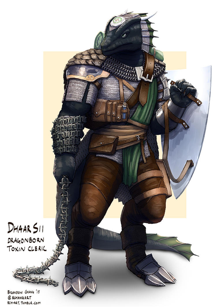 C: DhaarSii, Dragonborn Toxin Cleric by bchart