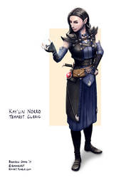 C: Kay'lin Norro, Tempest Cleric of Kord by bchart