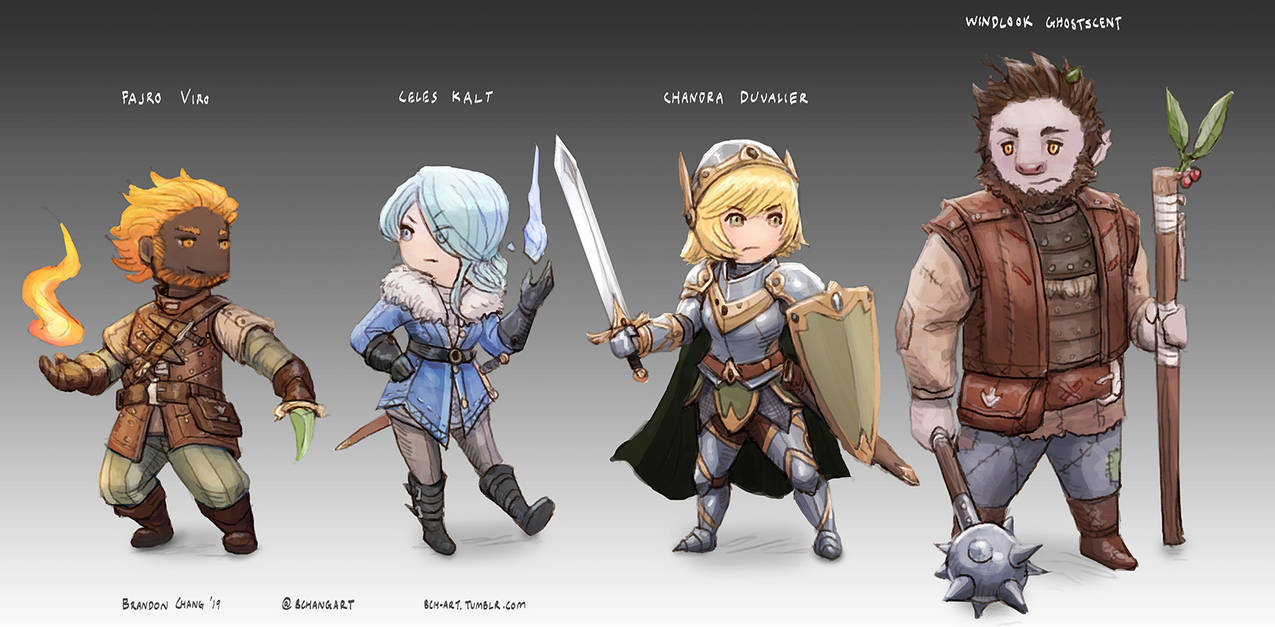 JRPG-style DnD Party by bchart