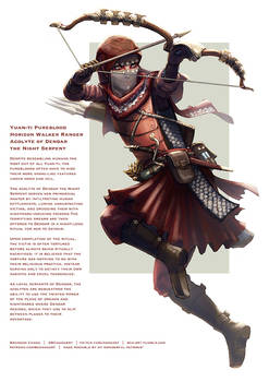 Yuan-ti Horizon Walker Ranger, Acolyte of Dendar