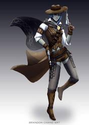 Half-Orc Gunslinger