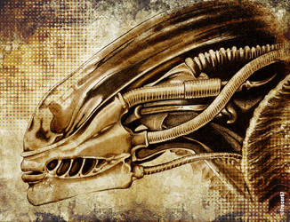 Gigers Alien 3 by Tracer67