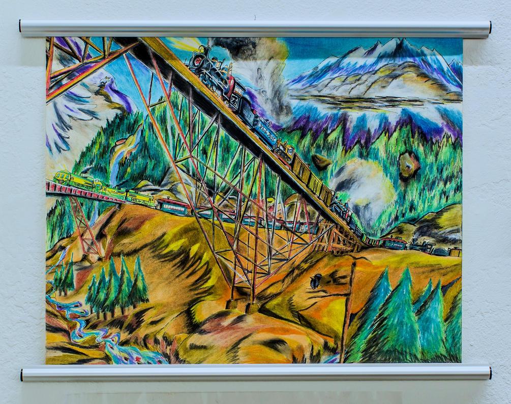 The Steel Bridge, White Pass and Yukon Railroad. by RPM1000
