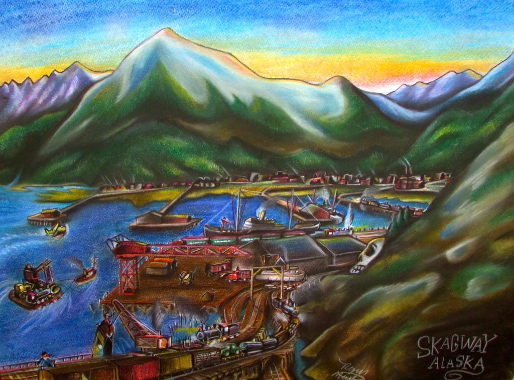 Skagway, Alaska. White Pass Railroad Docks. by RPM1000