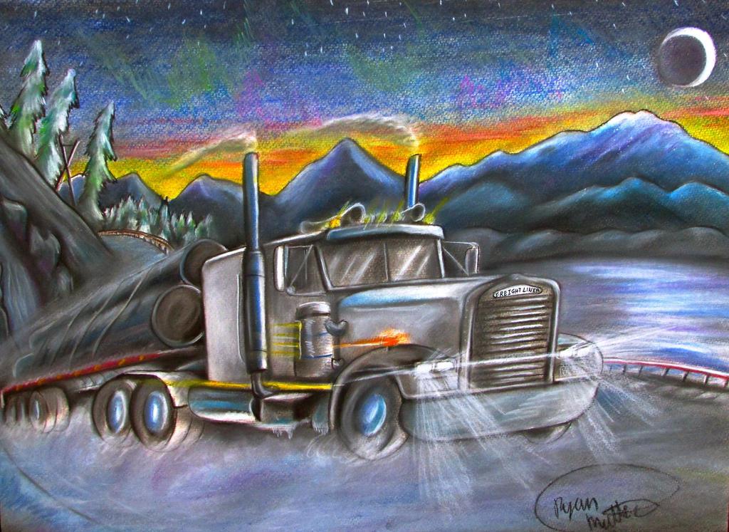 Truck rolling in Alaska. by RPM1000