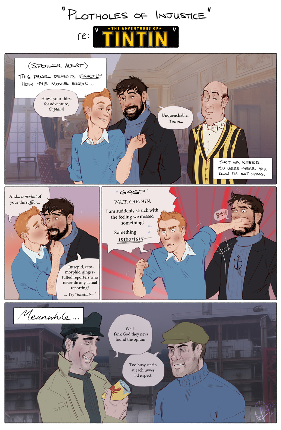 Tintin - Plotholes of Injustice by Eeba-ism