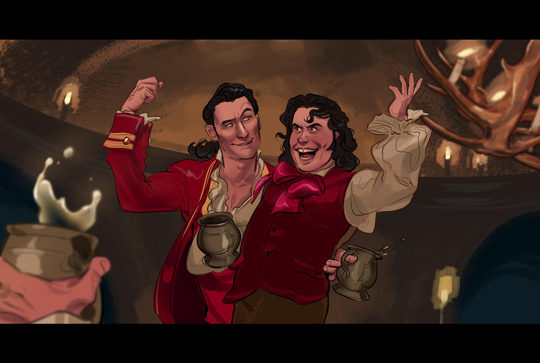 Gaston and LeFou by Eeba-ism
