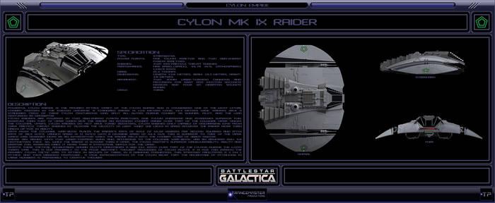 Cylon Mk IX Raider by IanKeenanArts