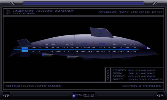 Orpheon Class Super Carrier by IanKeenanArts