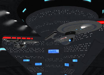 Enterprise and Excelsior by IanKeenanArts