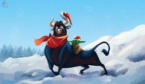 Ferdinand and Yoda (New Year's Crossover art )