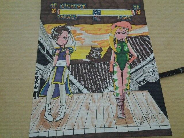 chun li vs cami by deidara310