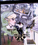 Link/Midna Window Painting