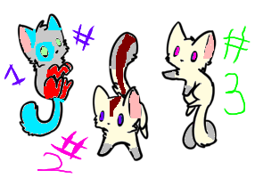 Adoptable kittens ~BloodStain and Colli's kits~ by bunnygirlcuty