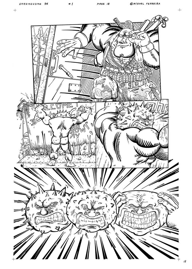 Chromosome 96 issue 1 page 18 Inks by LewisMichael