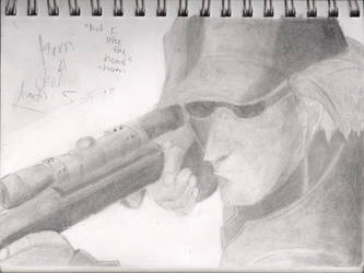 Korn with his Sniper Rifle. by Racso64