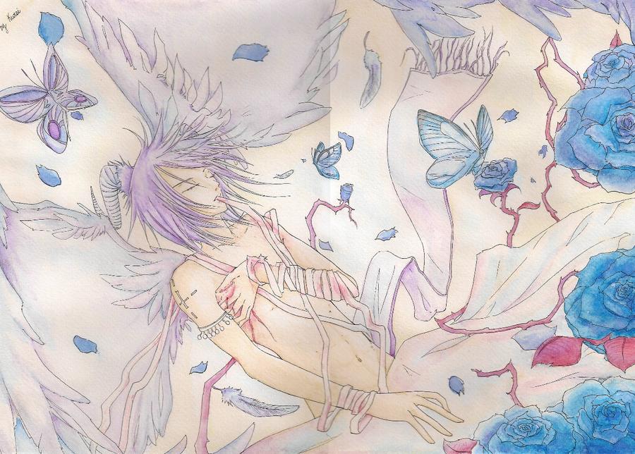 """mis dibujines :3 """"nuevos dibujitos >W<"""" Angel_caido_by_kuroi_onee"""