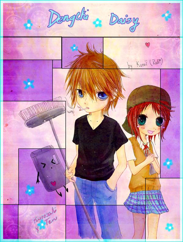 """mis dibujines :3 """"nuevos dibujitos >W<"""" Dengeki_Daisy__chibis_kuroteru_by_kuroi_onee"""