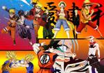 Naruto Bleach One piece Dragonball z wallpaper