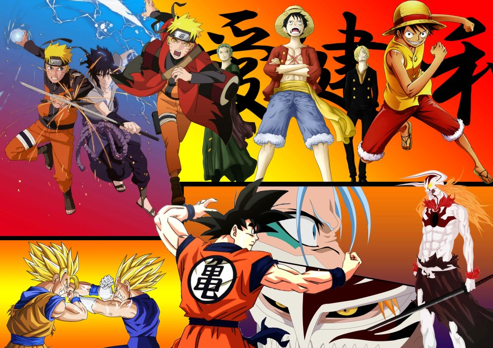 Naruto Bleach One piece Dragonball z wallpaper by HeroAkemi