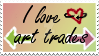 Stamp: I Love Art Trades (Request) by Cygnicantus