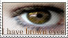 Brown Eyes Stamp by ehrehrere