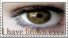 Brown Eyes Stamp by ehrehrere