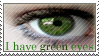 Green Eyes Stamp by ehrehrere