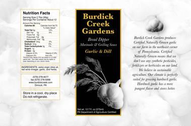 Burdick Creek Gardens Label 2